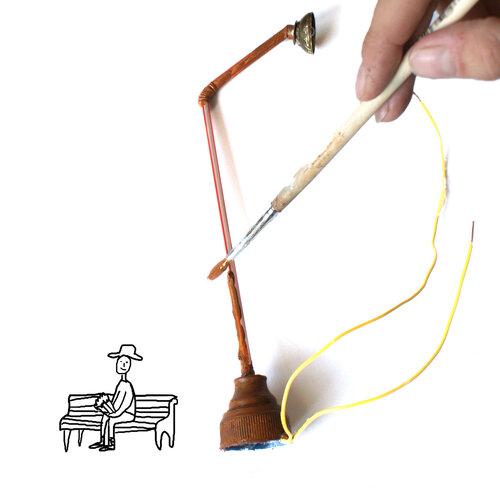 Как изготовить фонарь уличный