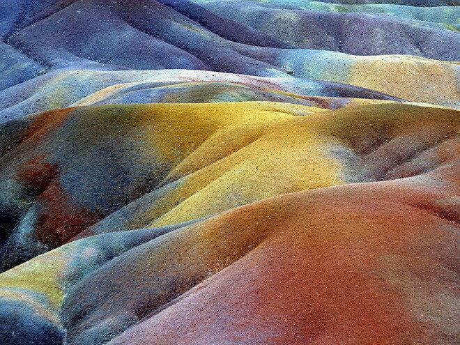 Семицветные пески. Шамарель, о. Маврикий