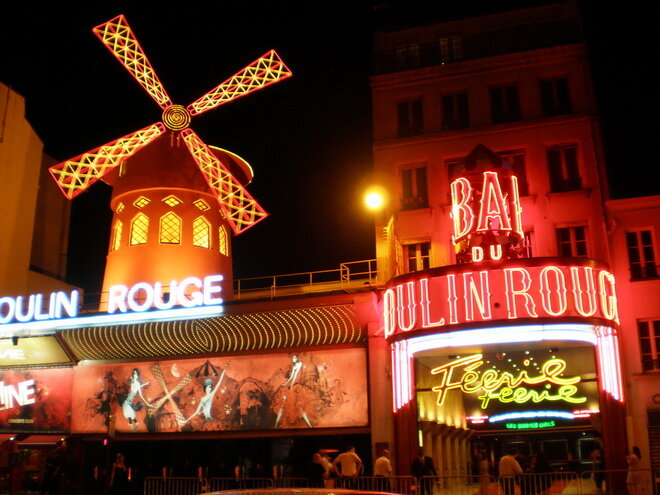 Кабаре «Мулен Руж». Париж