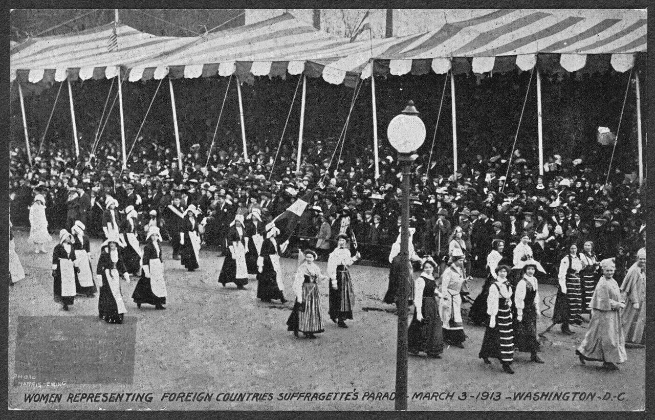 Иностранные суфражистки на параде 3 марта 1913 г.
