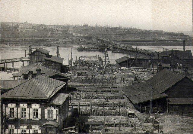 Общий вид постройки на кануне передачи Мостотресту. Июнь 1934г.