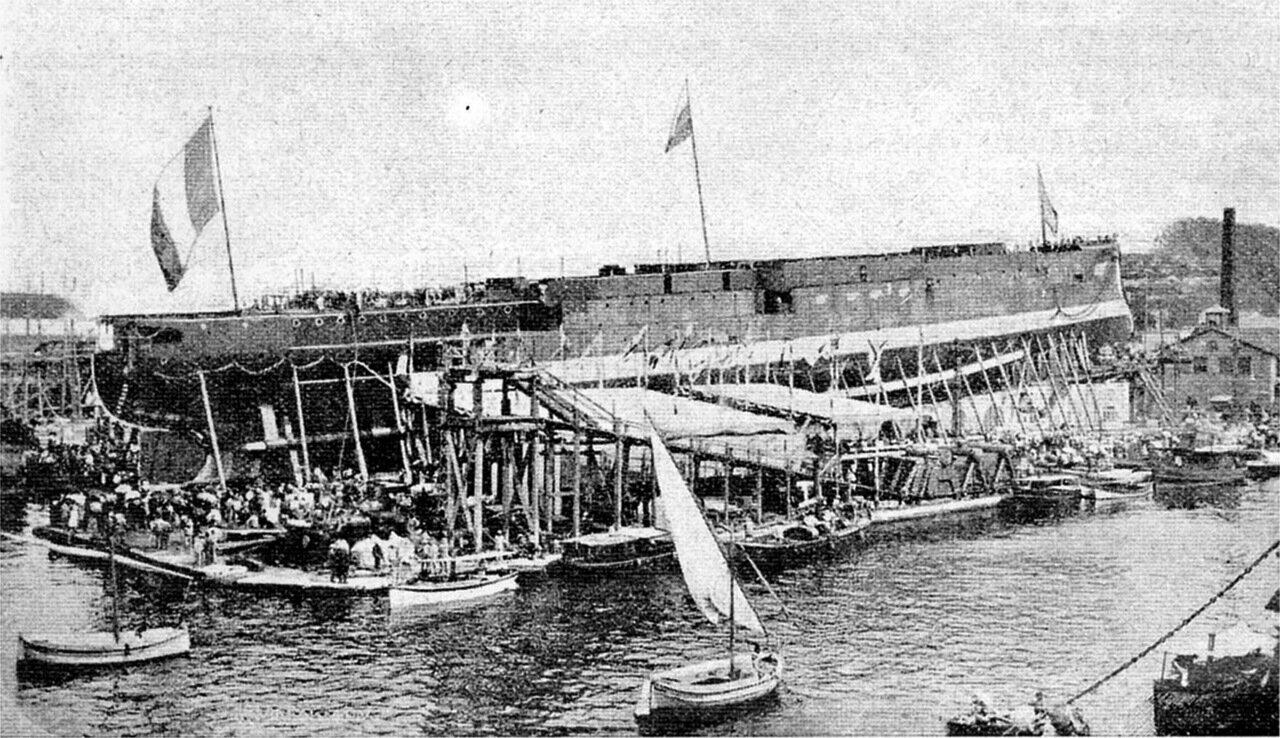 Спуск на воду броненосного крейсера Баян, 30 мая 1899 года