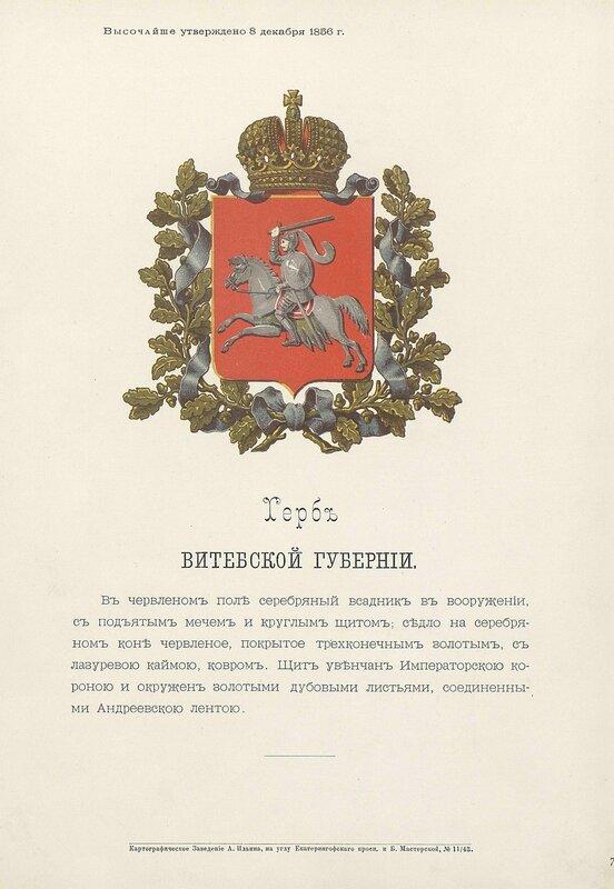 Витебская губерния 1880 год