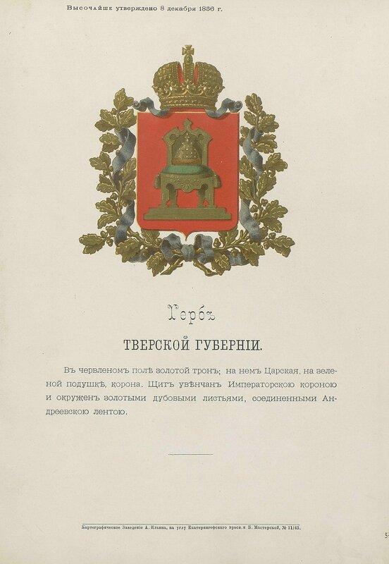 Тверская губерния 1880 год