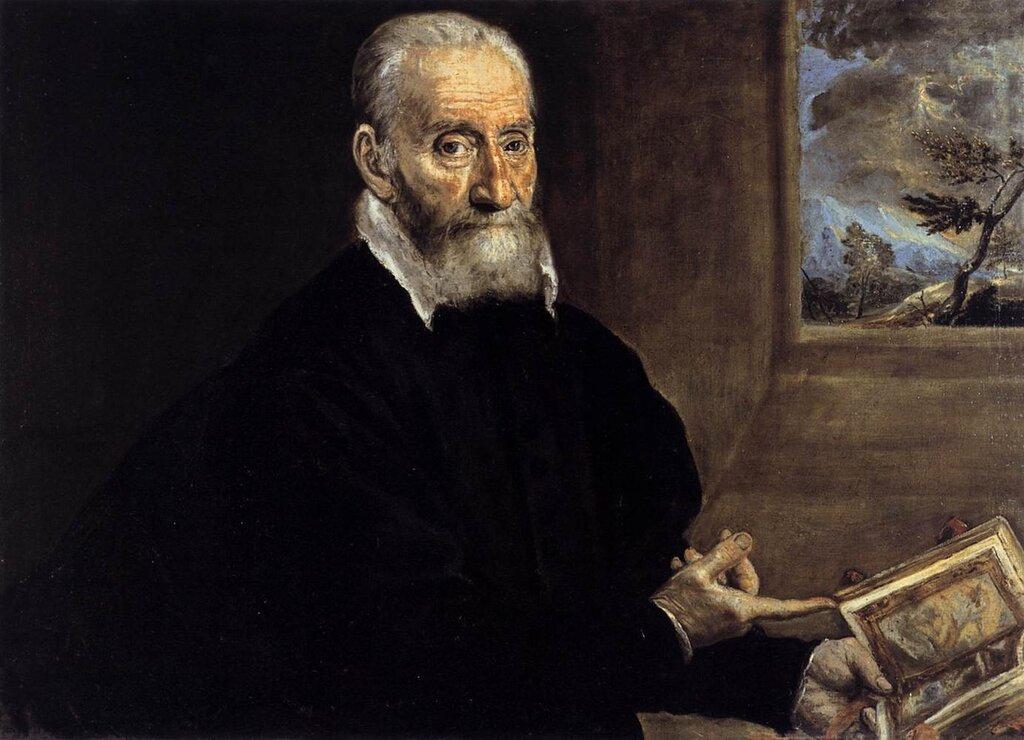 Портрет Джулио Кловио, между 1571 и 1572, Эль Греко  (1541-1614) Италия, Испания