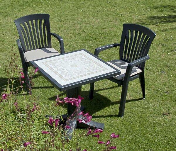 Садовая итальянская мебель пластик