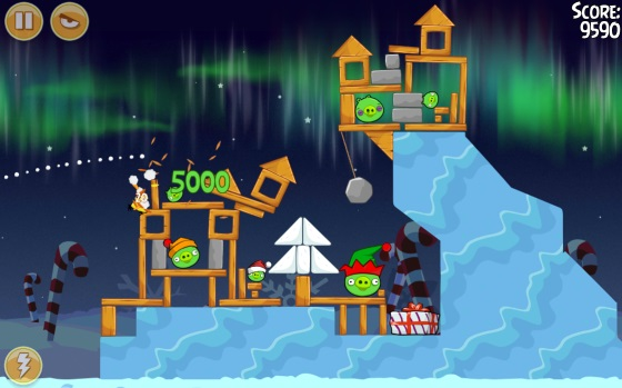 Angry Birds Seasons: Winter Wonderham! (Android игры)