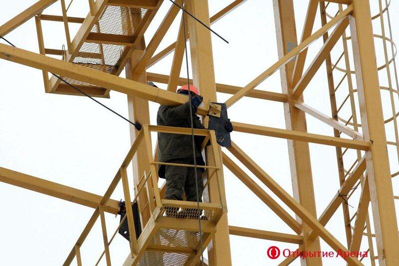 Стадион «Спартак»: Монтаж опорных систем (Фото)