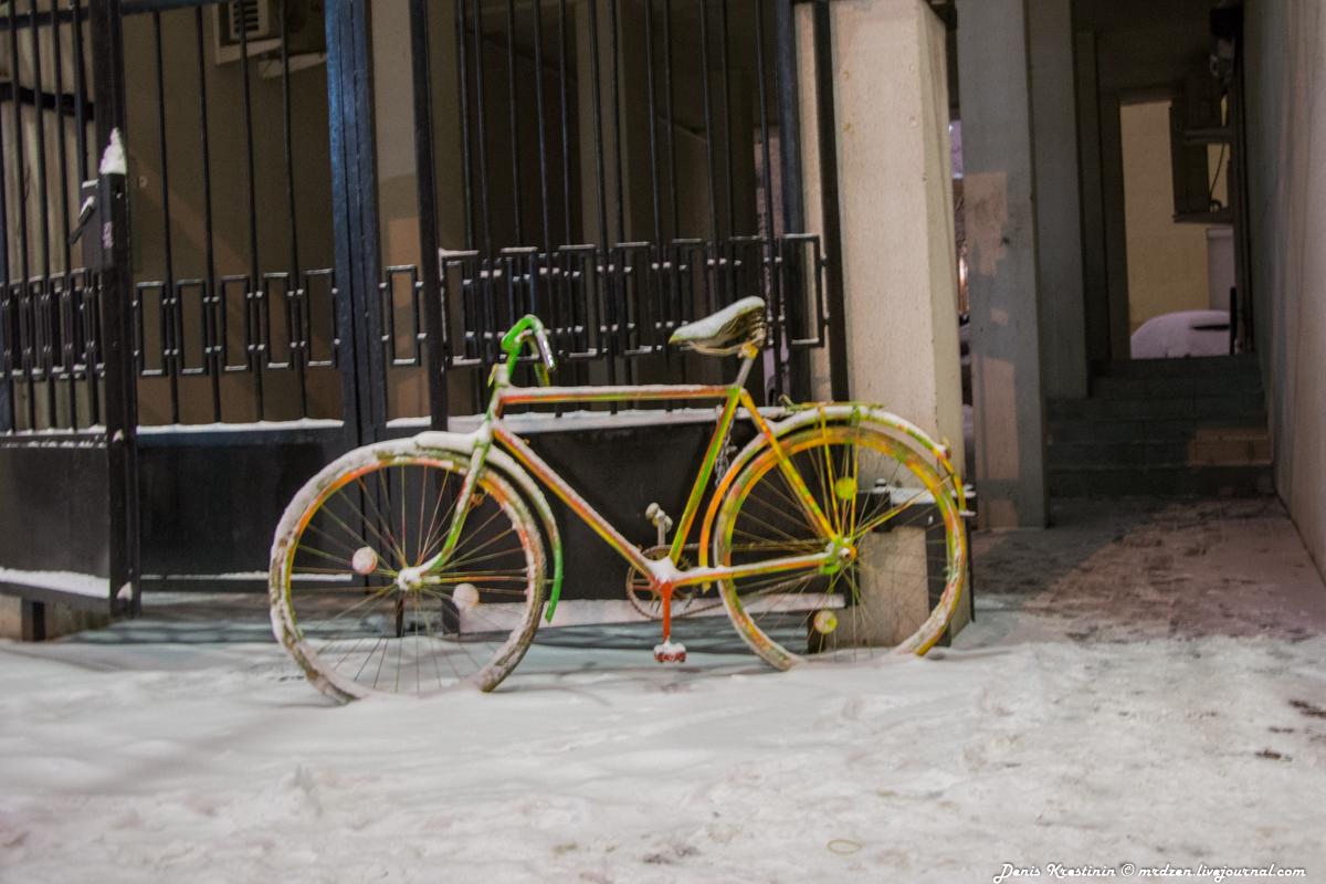 Снежный Минск. Двухколесные
