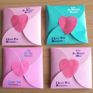 Конвертики сердечки своими руками из бумаги