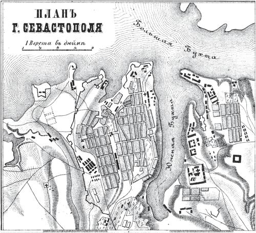 Генплан города Севастополя на 1876 год