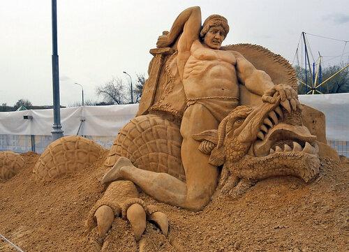 Битва Зигфрида с драконом Фафниром
