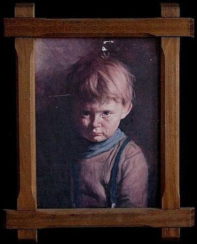© wikipedia  Существует целая серия картин плачущих детей итальянского художника Бруно Амадио