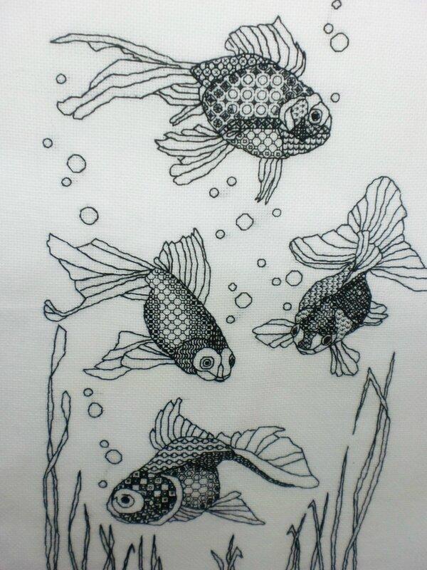 Рыбки, блэкворк
