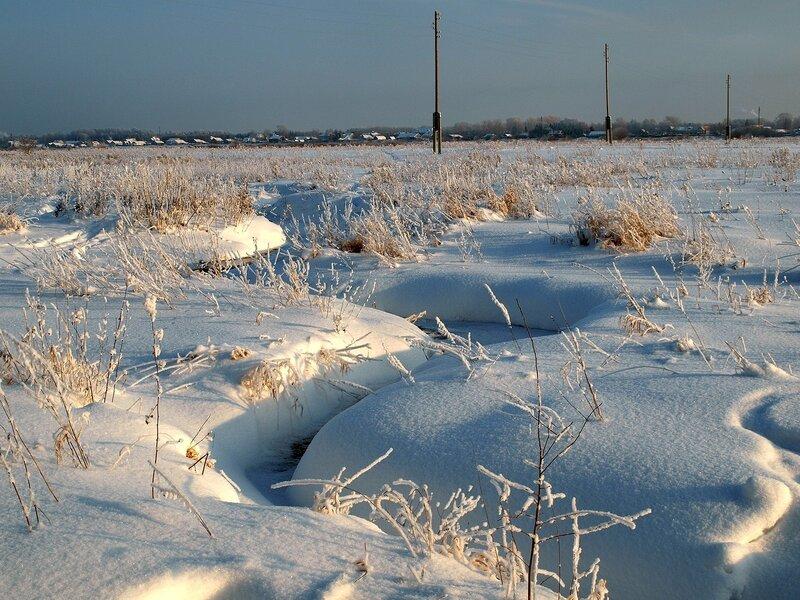 Зимний ручей в Заречном