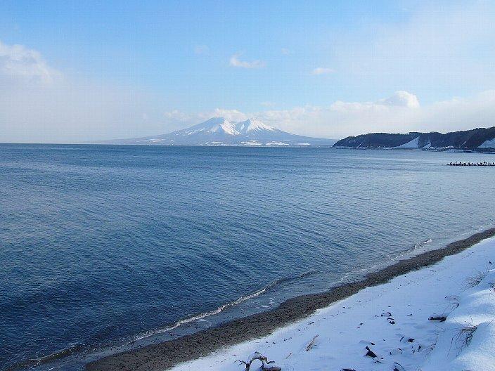 Вулканическая бухта и вулкан Комагатаке