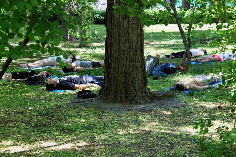 Медитация в Мариинском парке