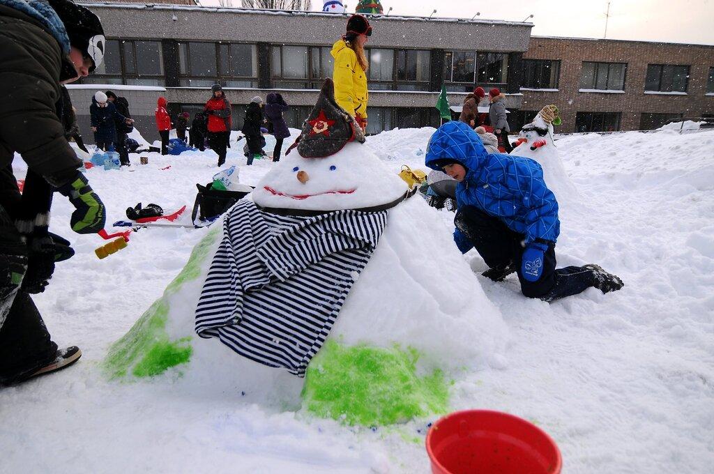 {Арт} Битва снеговиков