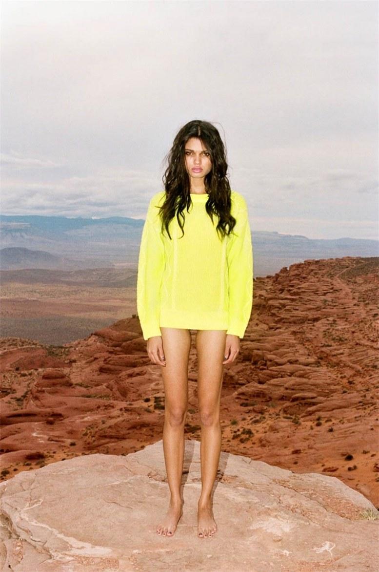 Daniela Braga / Даниела Брага в каталоге модной одежды Nasty Gal, весна 2013 / фотограф Devyn Galindo