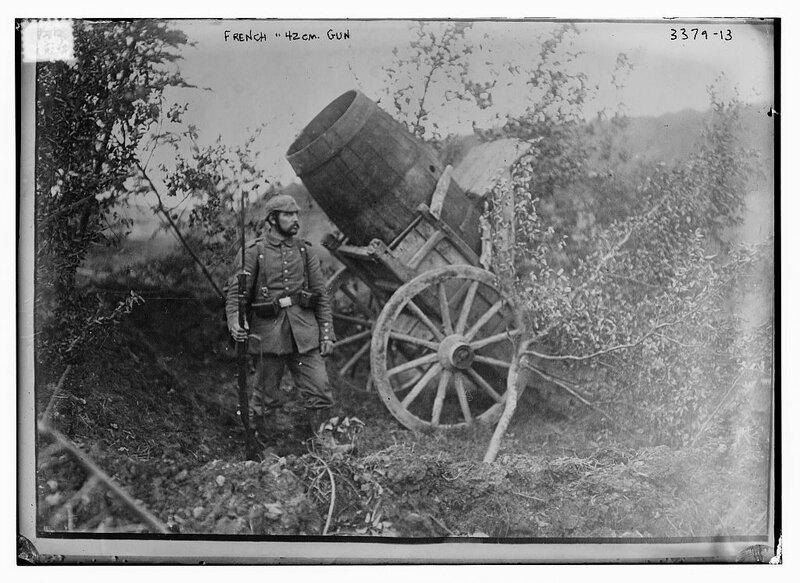 French 42 cm. gun.