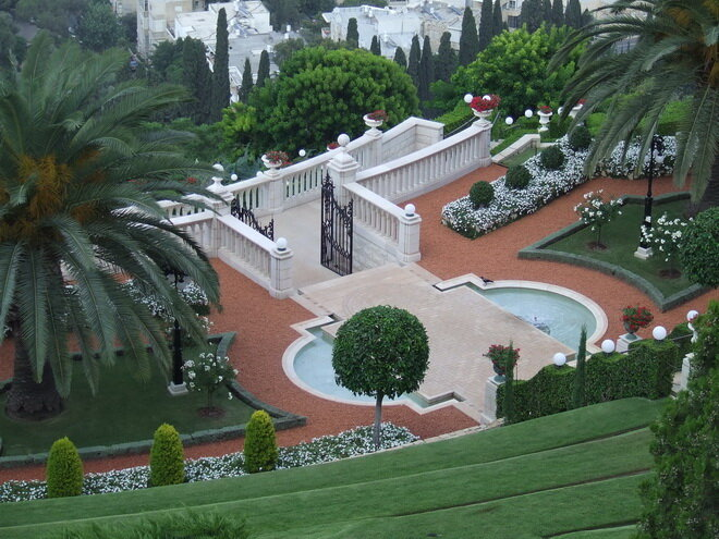 Бахайские сады. Хайфа, Израиль