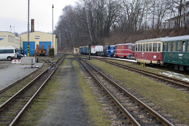 Горловина станции и локомотивное депо