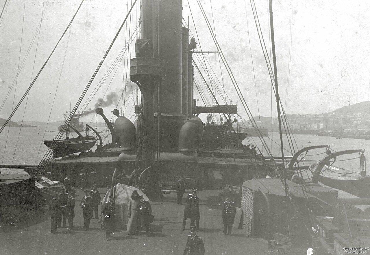 Броненосный крейсер Громобой, вид на шканцы.