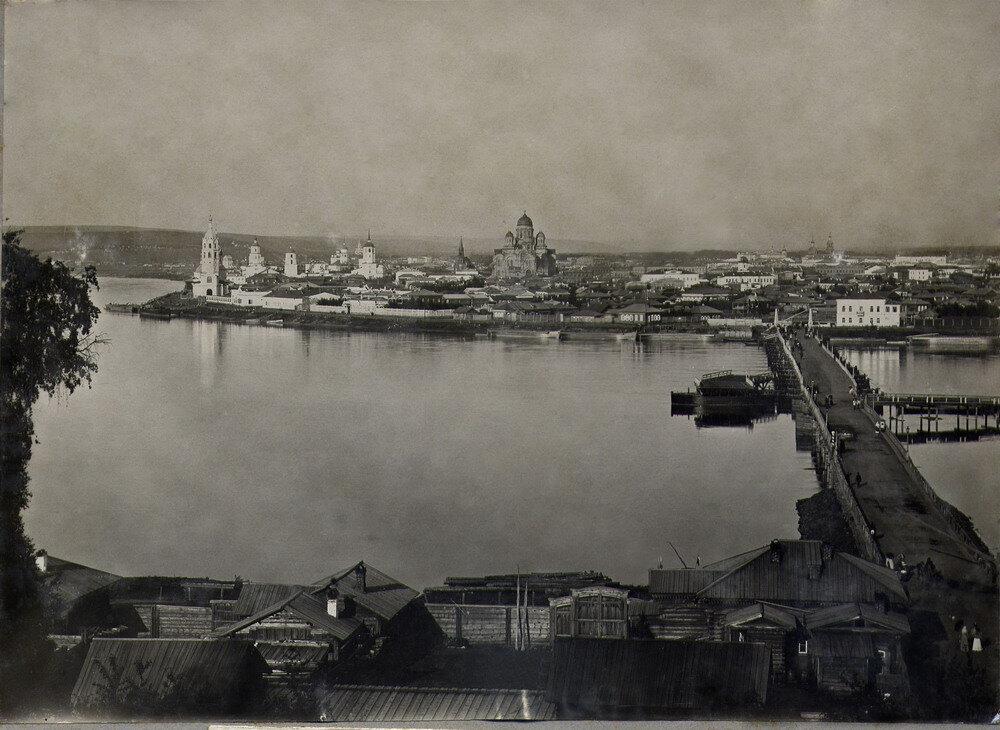 Понтонный мост через Ангару 1893 г.