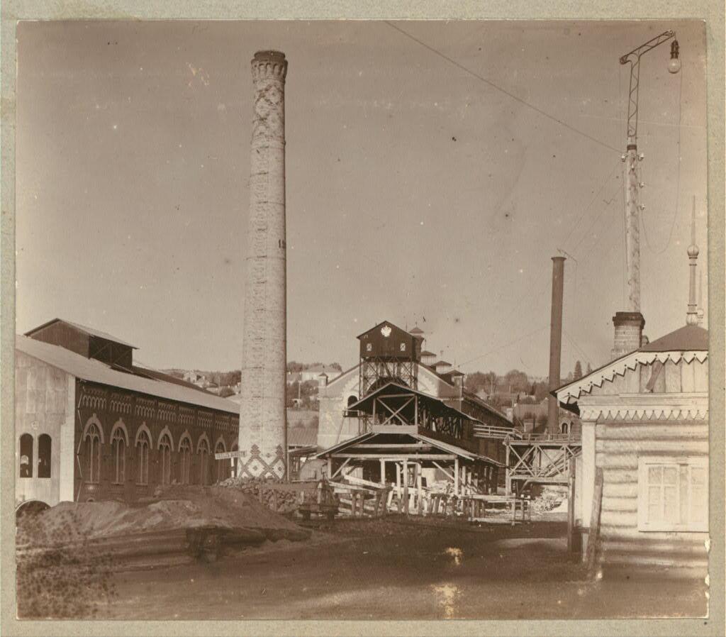 Доменная печь на Кушвинском заводе. 1909