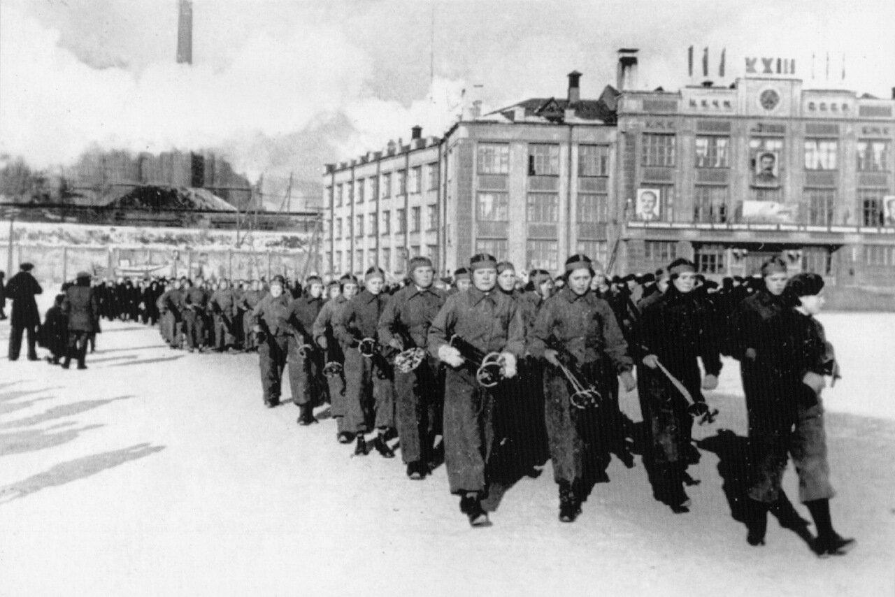 Демонстрация 7 ноября1940 г.