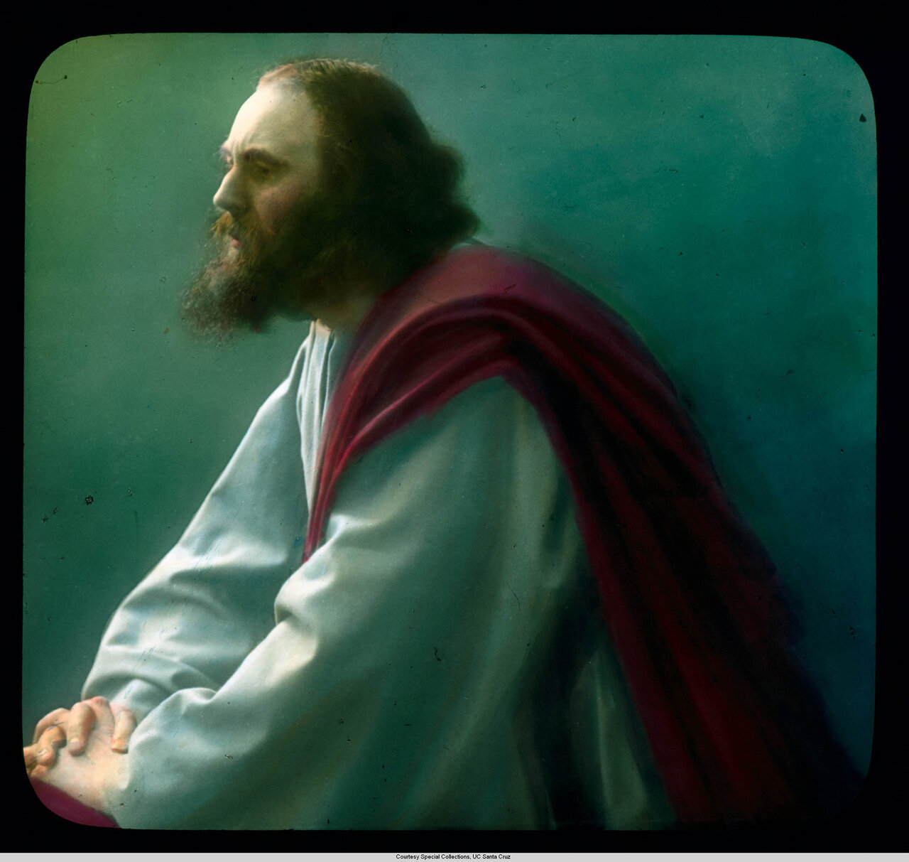 Обераммергау. Страсти Христовы. Энтон Лэнг в роли Иисуса в постановке 1910 г.