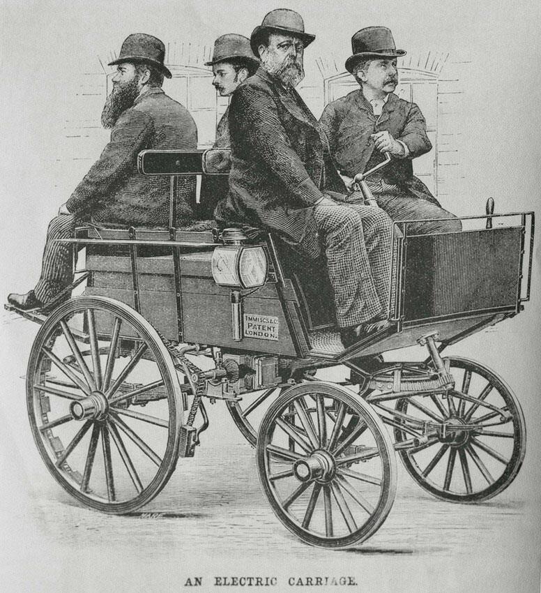1890-е годы — патент на электрический автомобиль в Лондоне..jpg