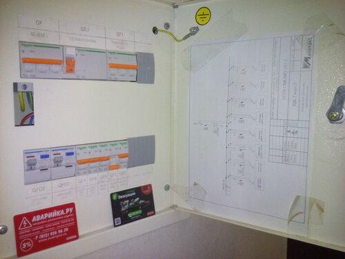 Вызов электрика аварийной службы в квартиру после короткого замыкания в точечном потолочном светильнике