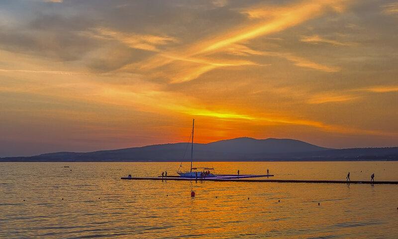 Весенний черноморский закат