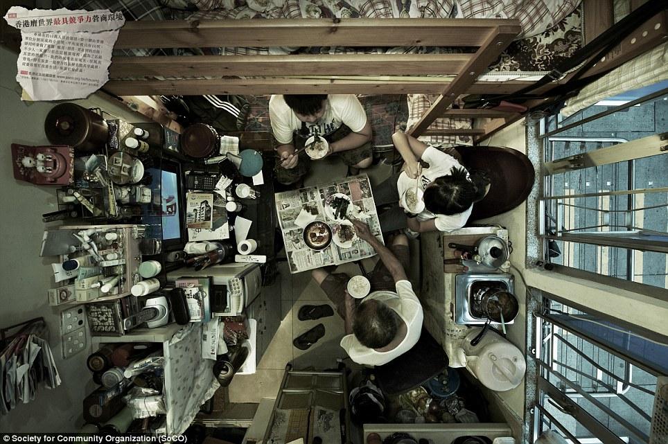 Не для страдающих клаустрофобией! Квартиры гонконгских семей