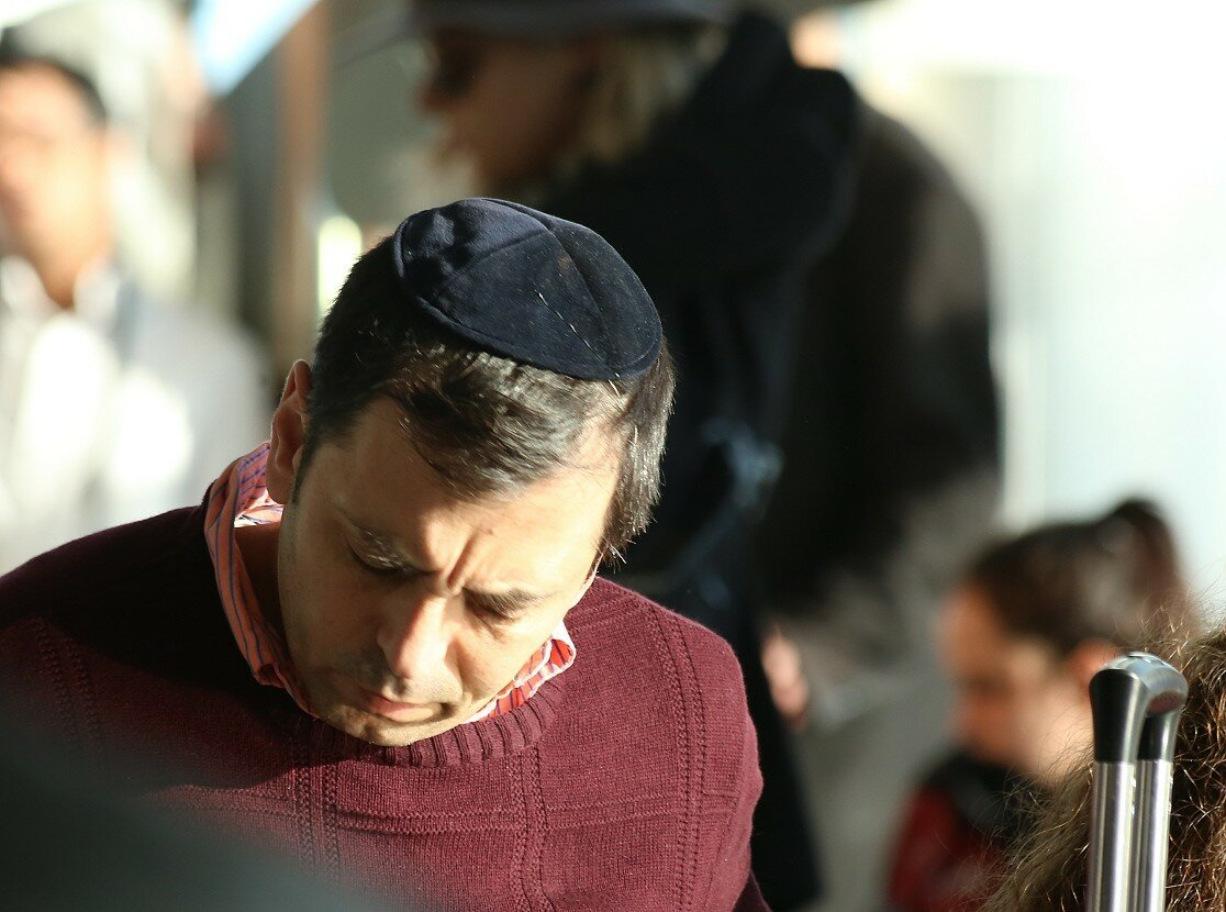Jews during prayer