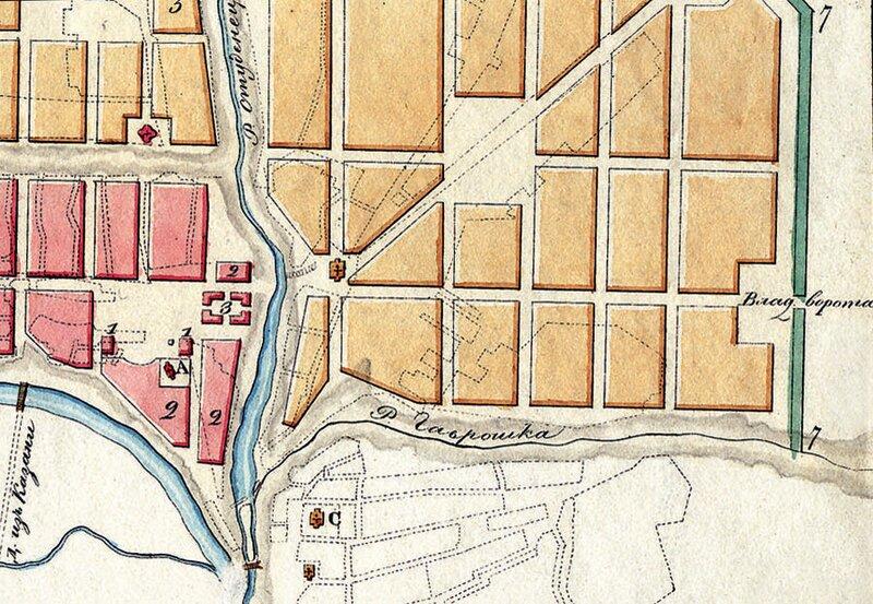 План Тамбова 1781 года. Фрагмент
