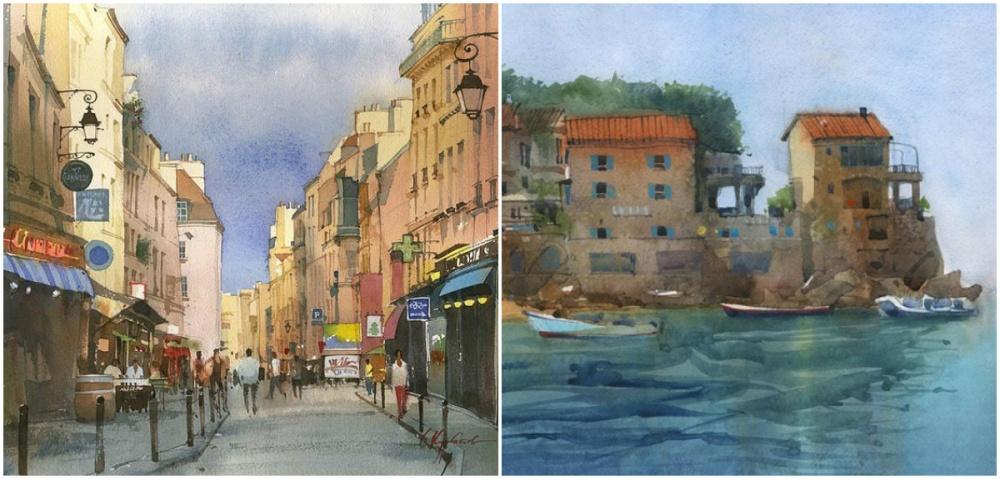 Сергей Курбатов — самобытный художник-акварелист. Особенность его техники заключается втом, что кр
