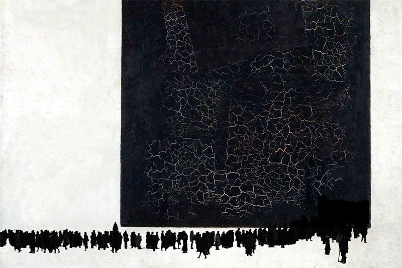 Казимир Малевич, «Очередь на Серова в черном квадрате», 1915