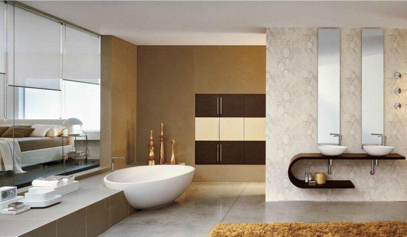 Фото: Красивый интерьер ванной комнаты