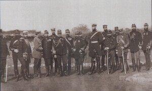 Генеральный штаб русских и румынских войск при Пордиме, сентябрь 1877