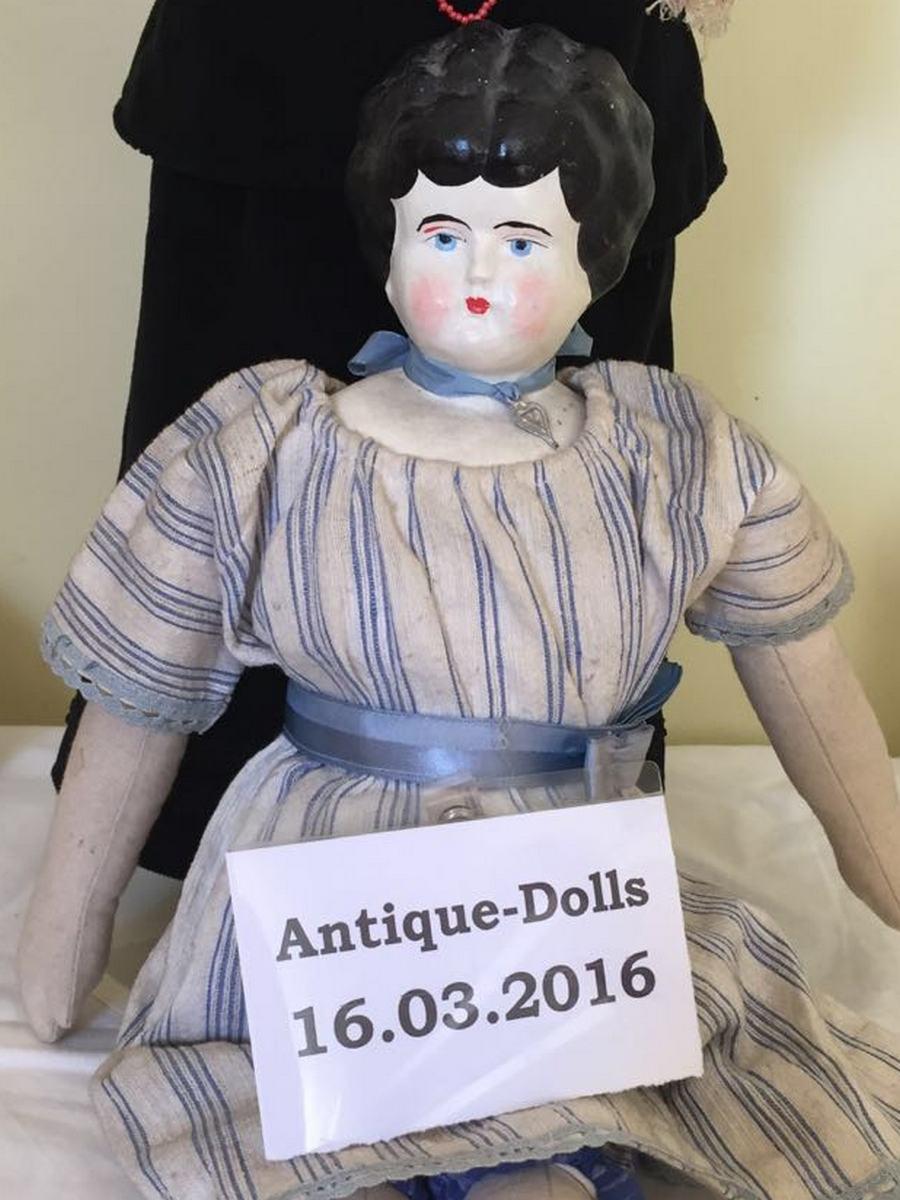 Антикварная немецкая коллекционная кукла China Head Doll c.1870's