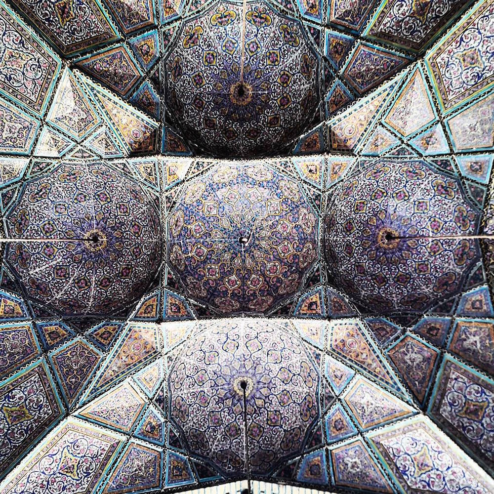 Celling of Nasir-Al-Molk's mosque in Shiraz,Iran