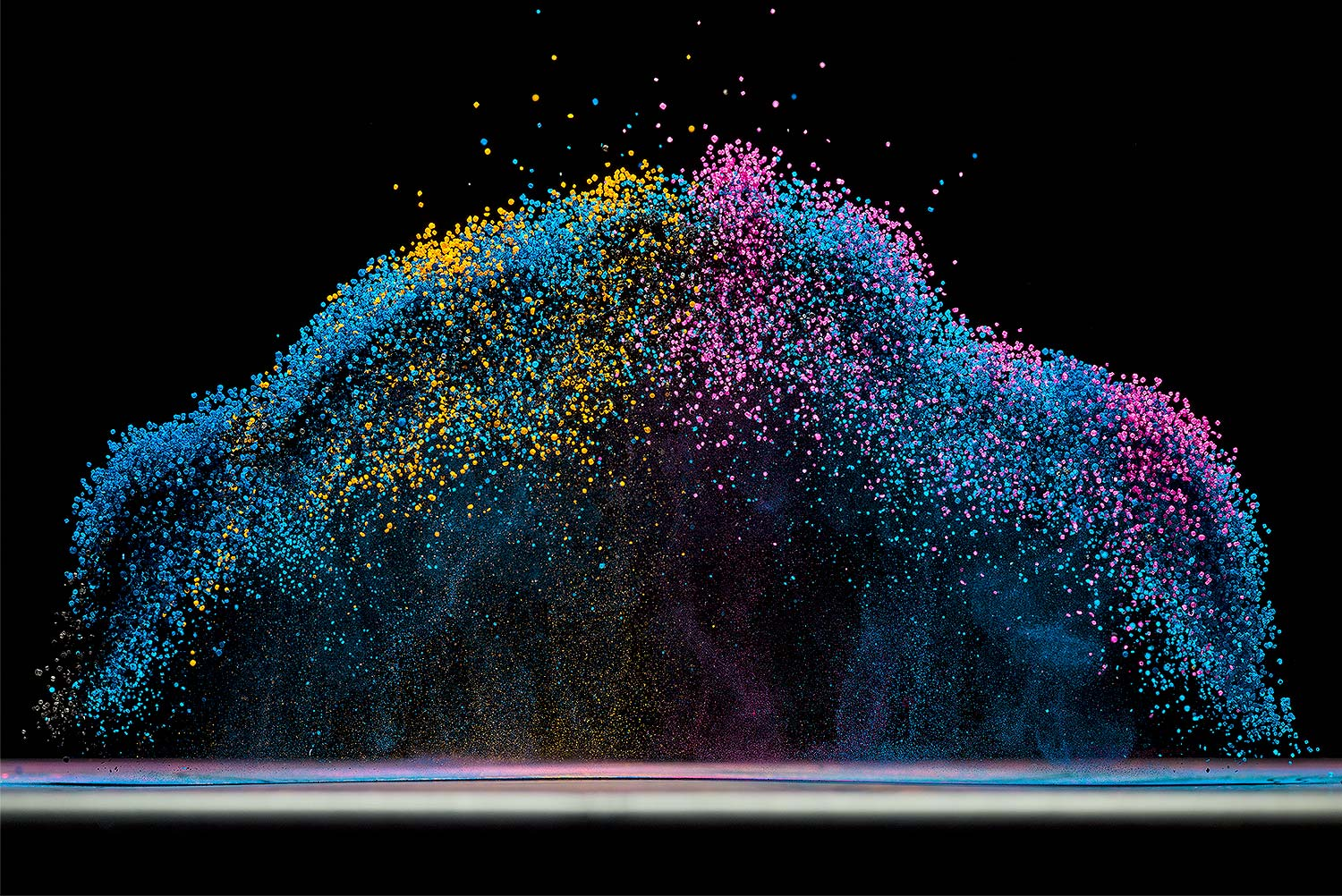 Dancing colors, making sound waves visible