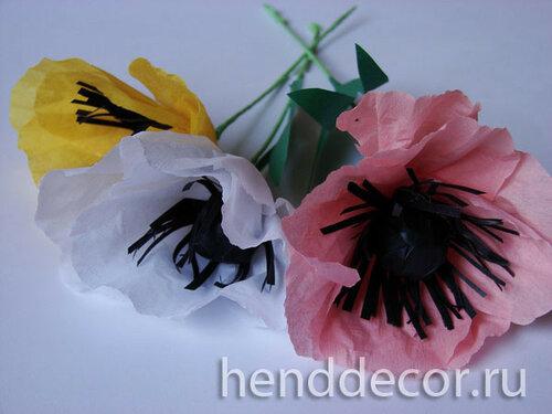 Цветы из бумаги Анемоны