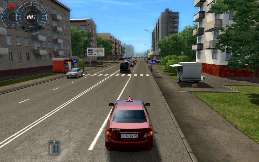 Имитация вождения автомобиля онлайн