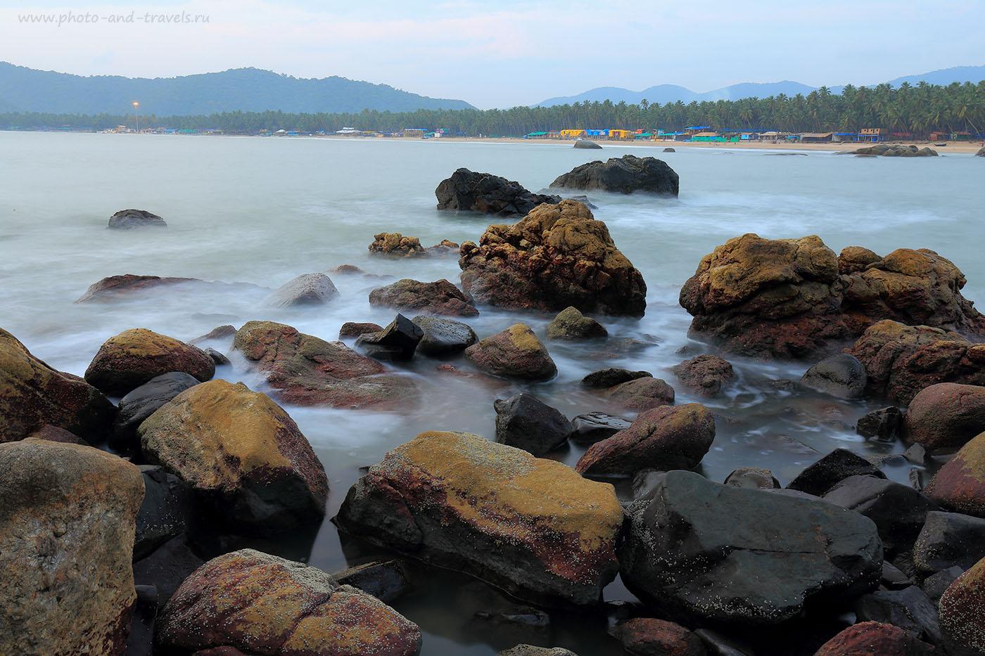 Фото 13. Замороженное море в Гоа. Отдых в Палолеме в октябре. Отзывы туристов о путешествии по Индии (24-70, 0eV, 4 сек., f22, 30mm, ISO 100)