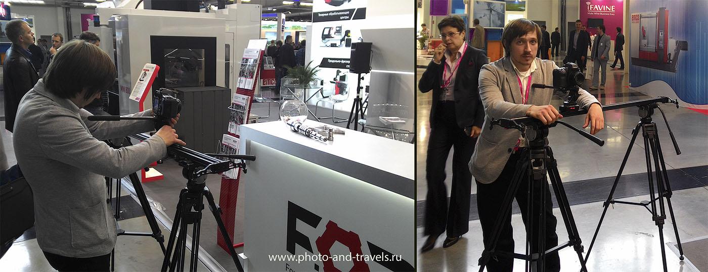 Фотография 2. Использование слайдера для плавного движения фотоаппарата во время съемки видео. Урок с советами по профессиональной видеосъемке на зеркалку или на беззеркалку