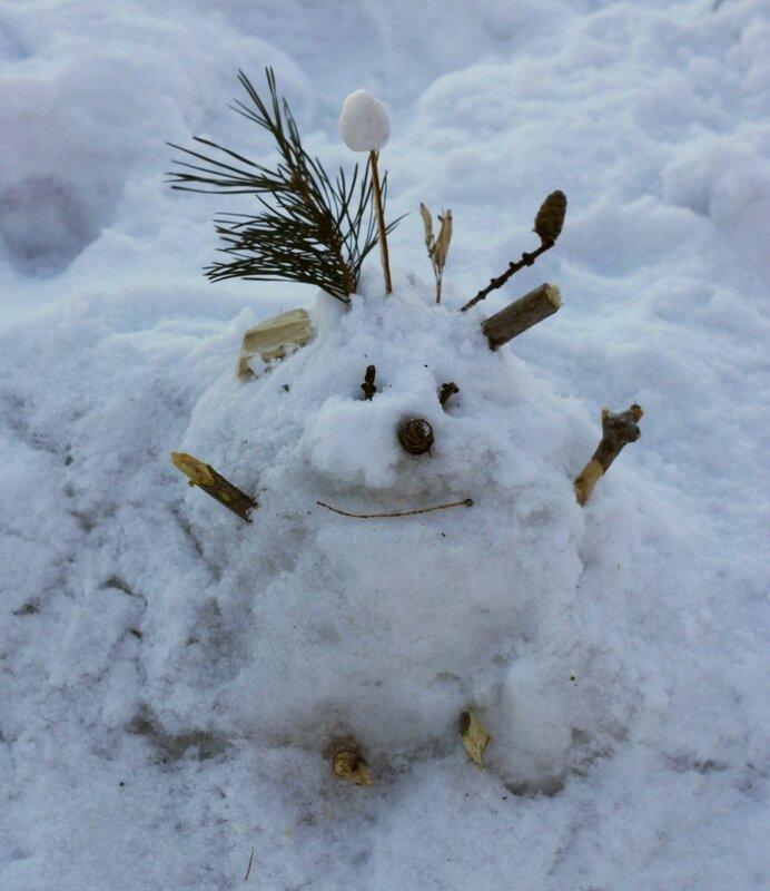 Новосибирск, Нарымский сквер (Novosibirsk, Narymsky park). Снеговик.