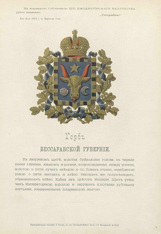 Бессарабская губерния 1880 год